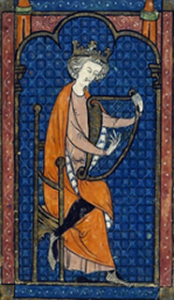 David's Harp, 13th c. M.S. British Library