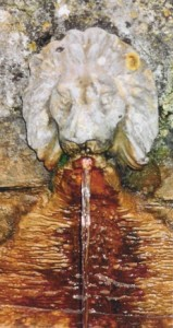 Lion drinking fountain at Chalice Well (Also a symbol of the Lion of Judah and the sacred bloodline of the Holy Grail)