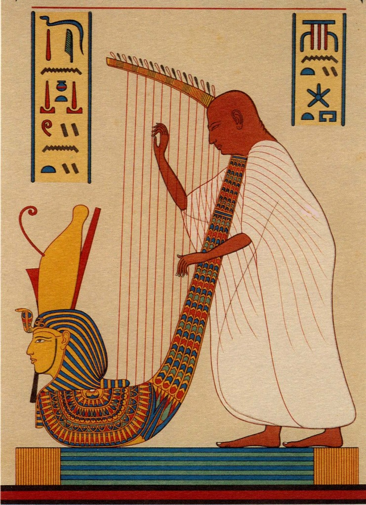 Harpist of Ramses III, Thebes